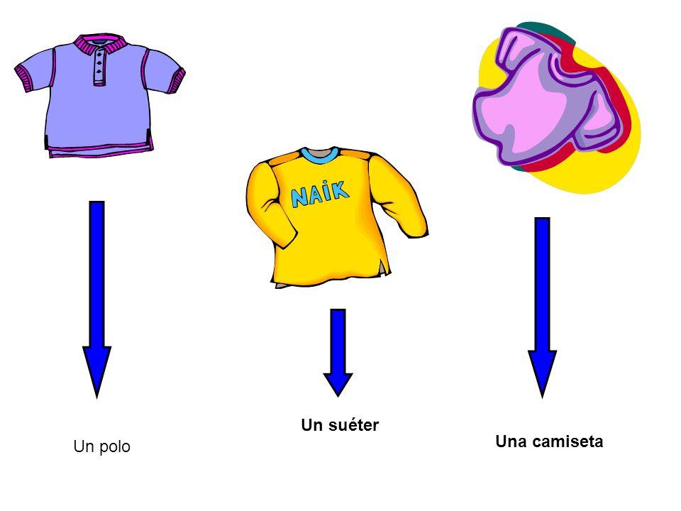 Un suéter Una camiseta Un polo