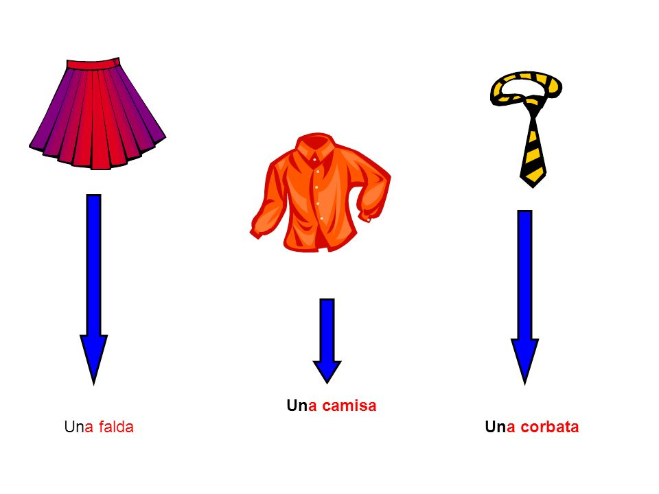 Una camisa Una falda Una corbata