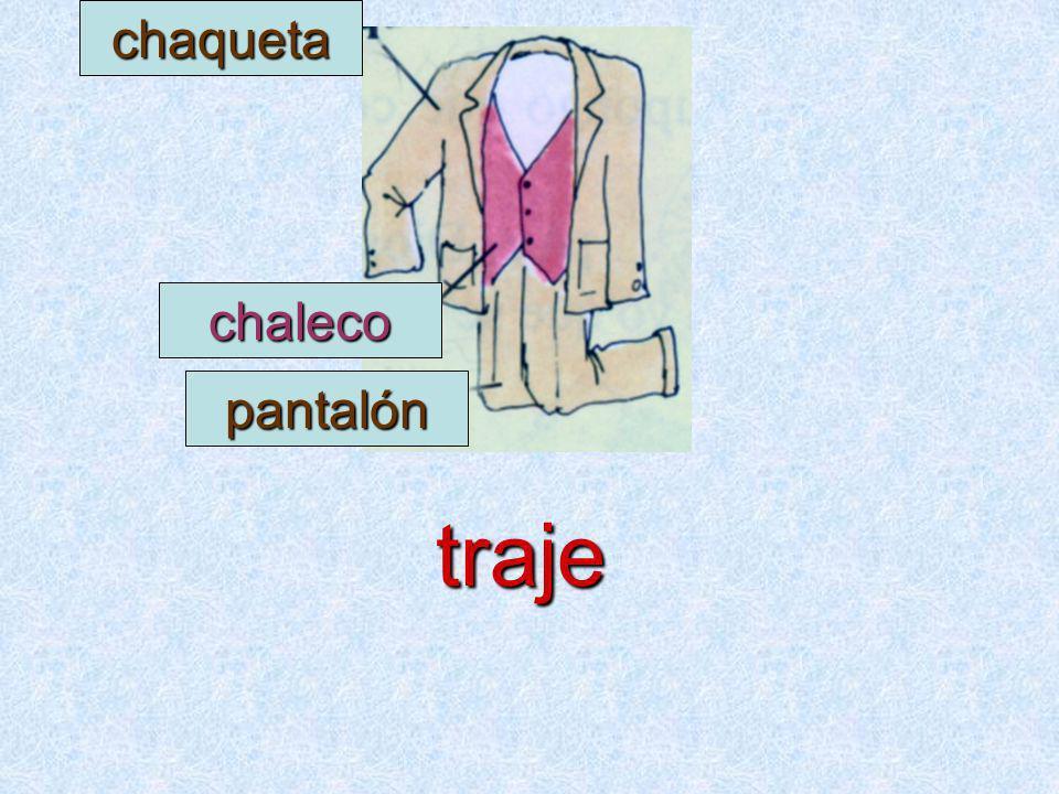 chaqueta chaleco pantalón traje