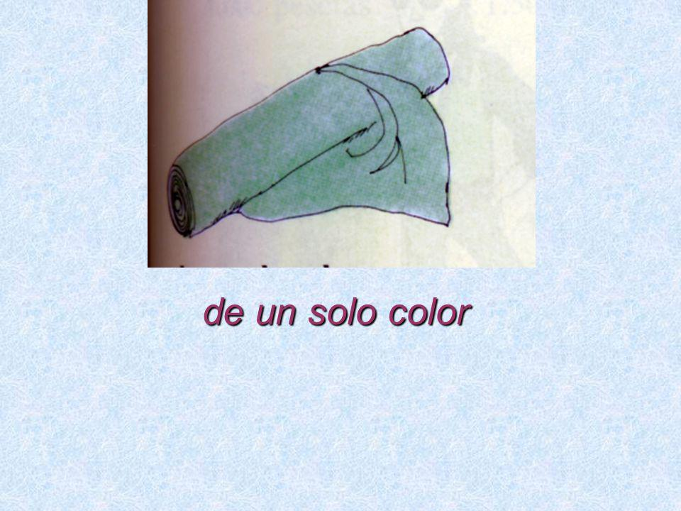 de un solo color