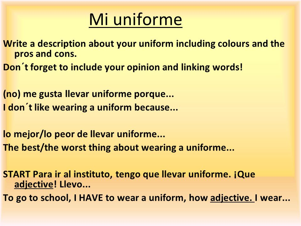Mi uniforme