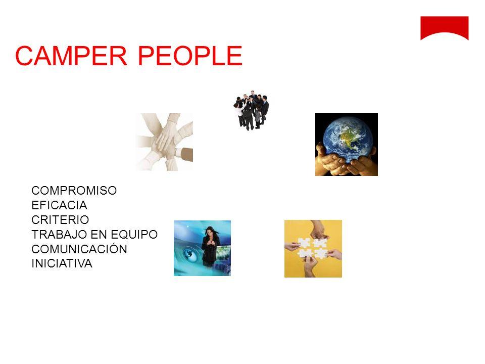 CAMPER PEOPLE COMPROMISO EFICACIA CRITERIO TRABAJO EN EQUIPO