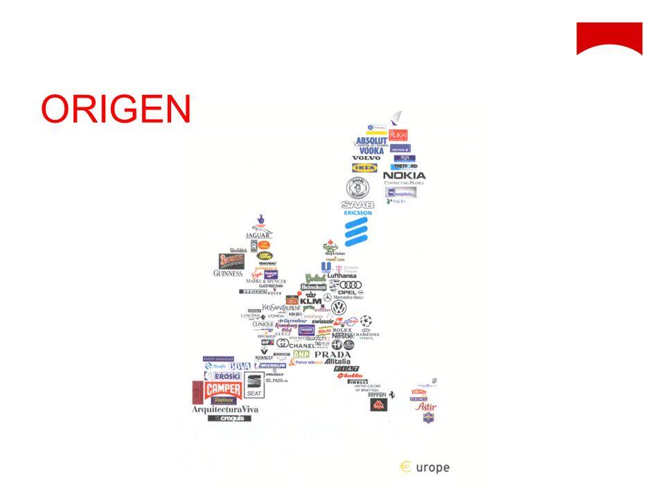 ORIGEN Cuando se formó la unión europea, se le encargó a un arquitecto realizar un mapa con las marcas más representativas de cada país.
