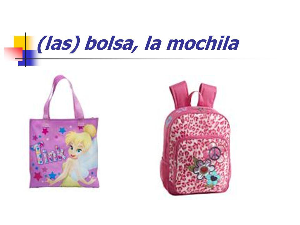 (las) bolsa, la mochila