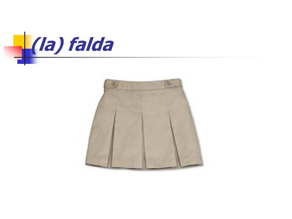 (la) falda