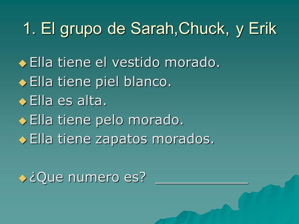 1. El grupo de Sarah,Chuck, y Erik