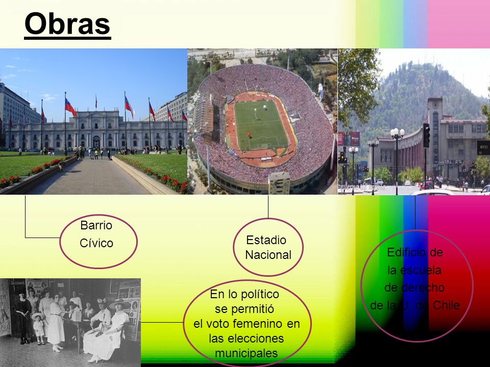 Obras Barrio Cívico Estadio Nacional Edificio de la escuela de derecho