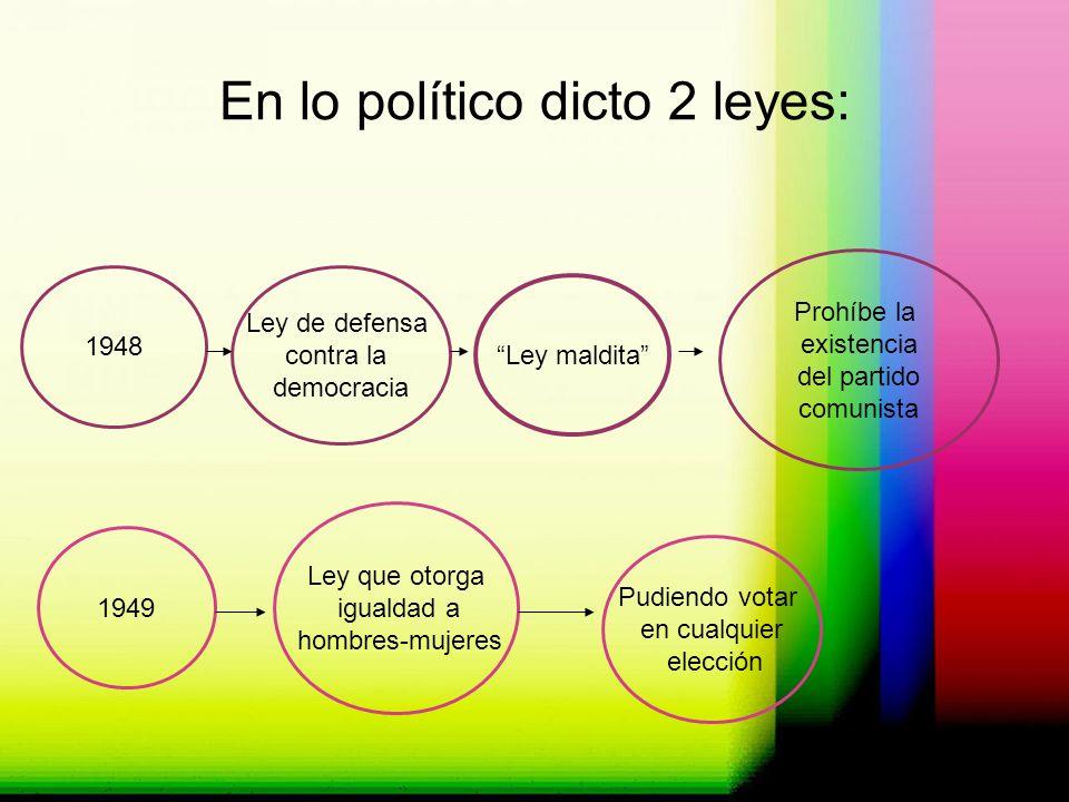 En lo político dicto 2 leyes: