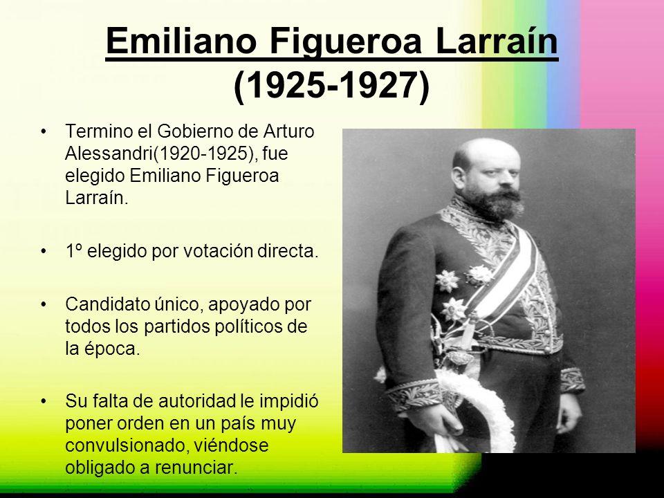 Emiliano Figueroa Larraín (1925-1927)