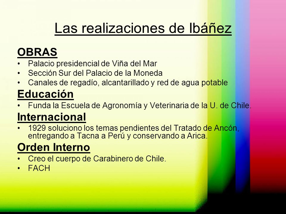Las realizaciones de Ibáñez