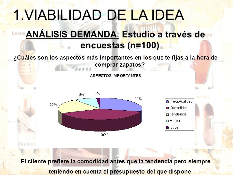 ANÁLISIS DEMANDA: Estudio a través de encuestas (n=100)