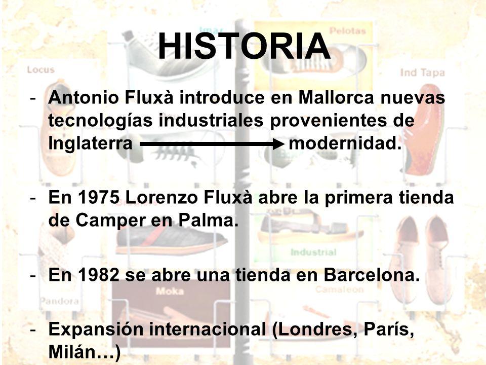 HISTORIA Antonio Fluxà introduce en Mallorca nuevas tecnologías industriales provenientes de Inglaterra modernidad.