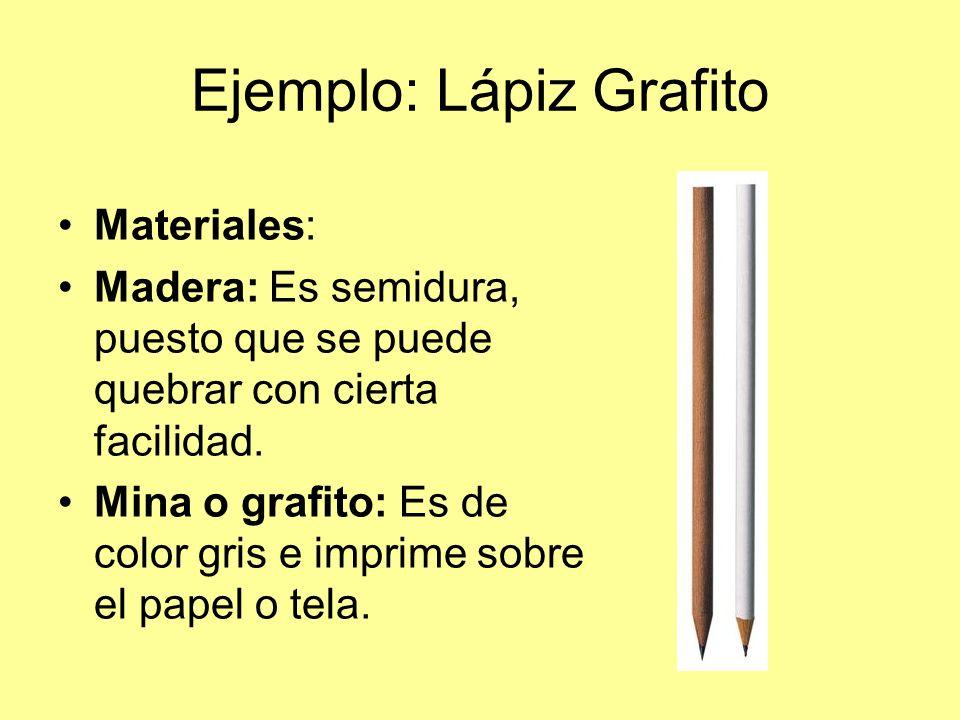 Ejemplo: Lápiz Grafito