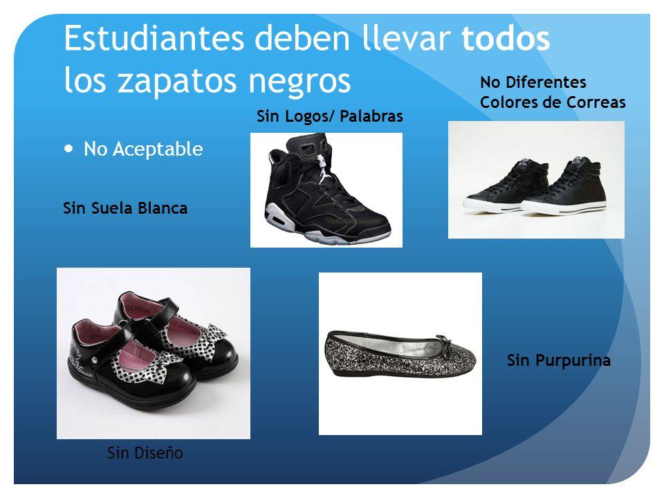 Estudiantes deben llevar todos los zapatos negros