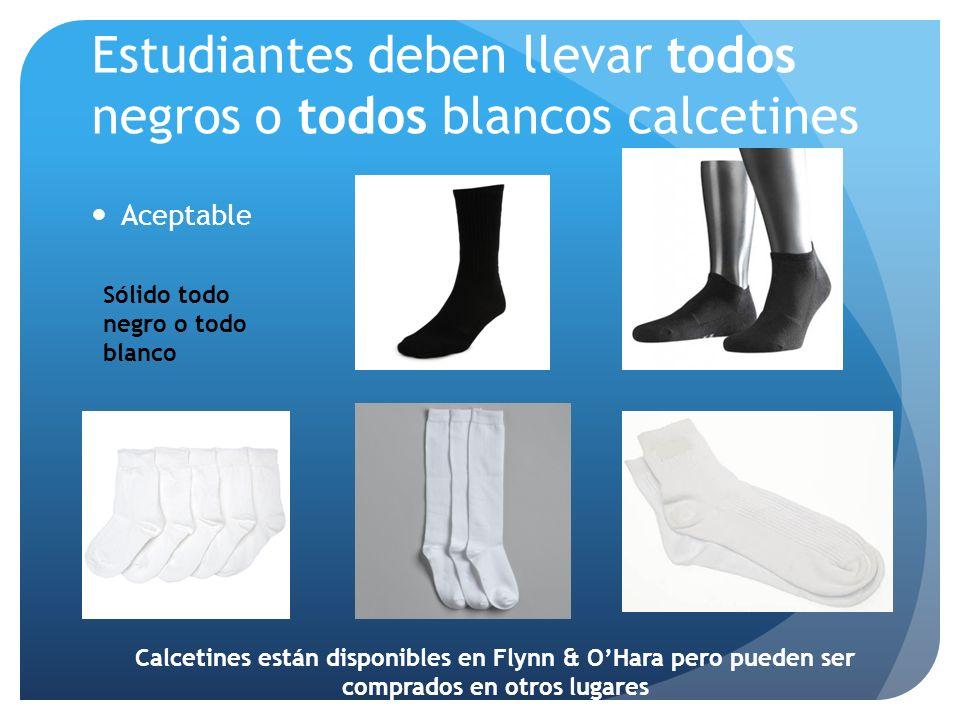 Estudiantes deben llevar todos negros o todos blancos calcetines