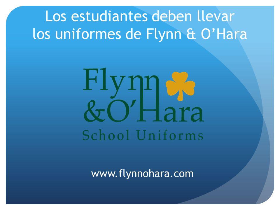 Los estudiantes deben llevar los uniformes de Flynn & O'Hara