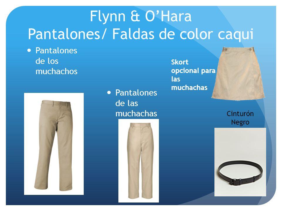 Flynn & O'Hara Pantalones/ Faldas de color caqui