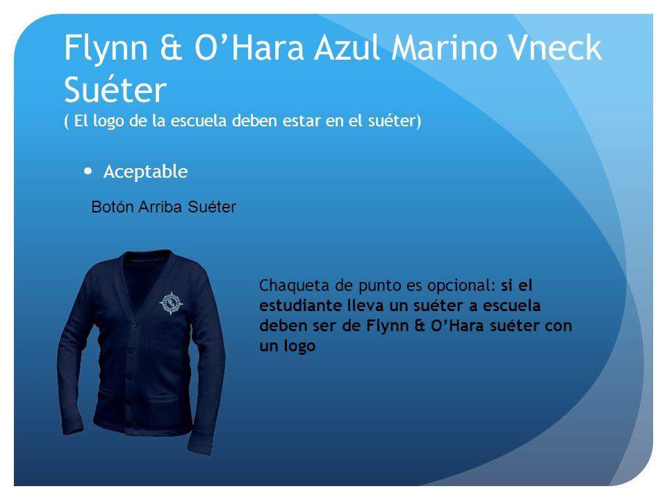 Flynn & O'Hara Azul Marino Vneck Suéter ( El logo de la escuela deben estar en el suéter)