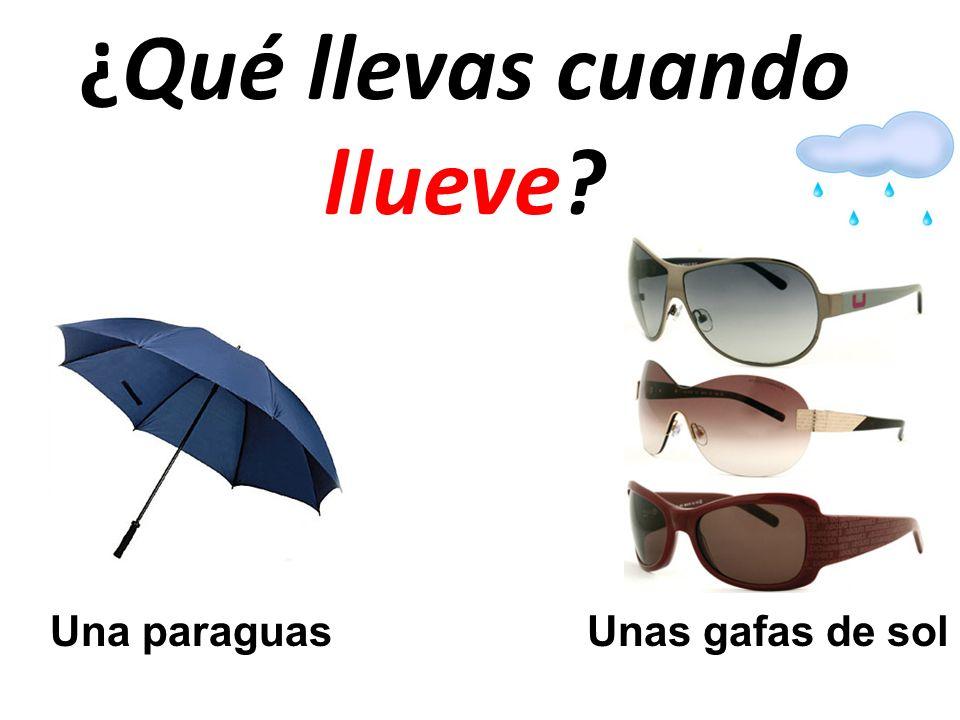 ¿Qué llevas cuando llueve