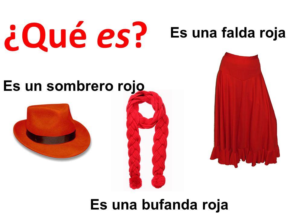 ¿Qué es Es una falda roja Es un sombrero rojo Es una bufanda roja