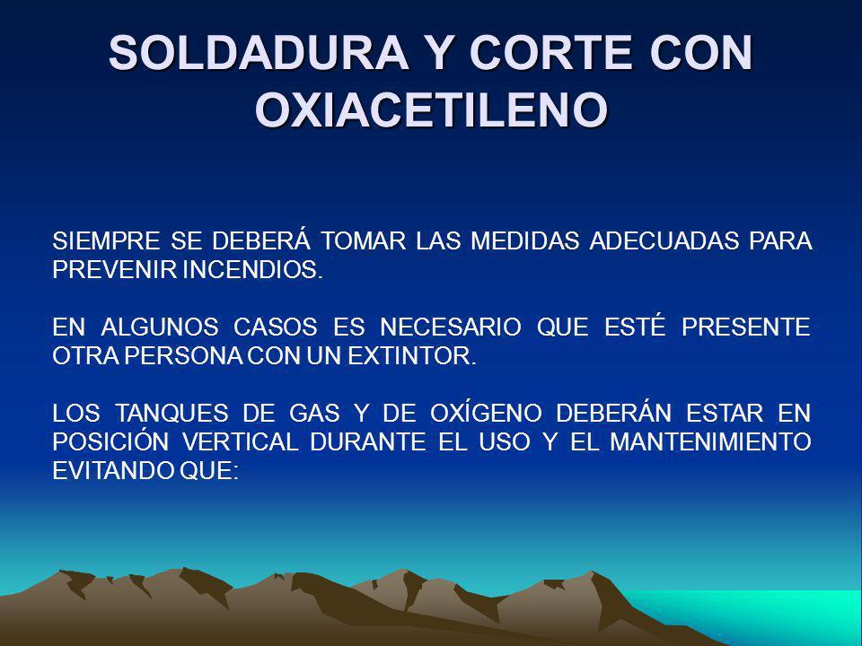 SOLDADURA Y CORTE CON OXIACETILENO