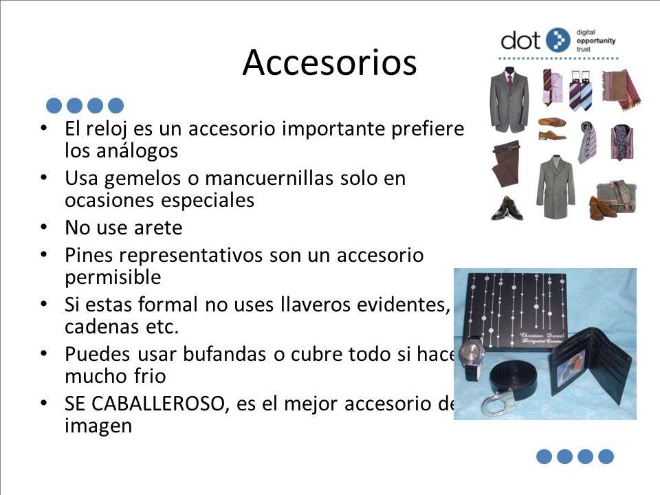 Accesorios El reloj es un accesorio importante prefiere los análogos