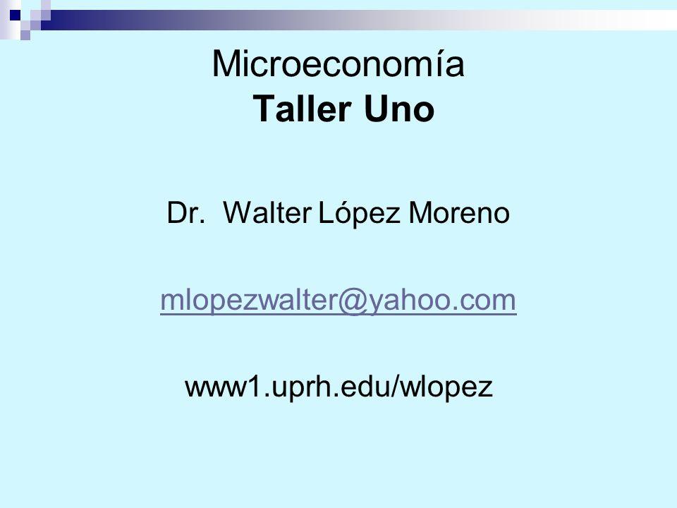 Microeconomía Taller Uno