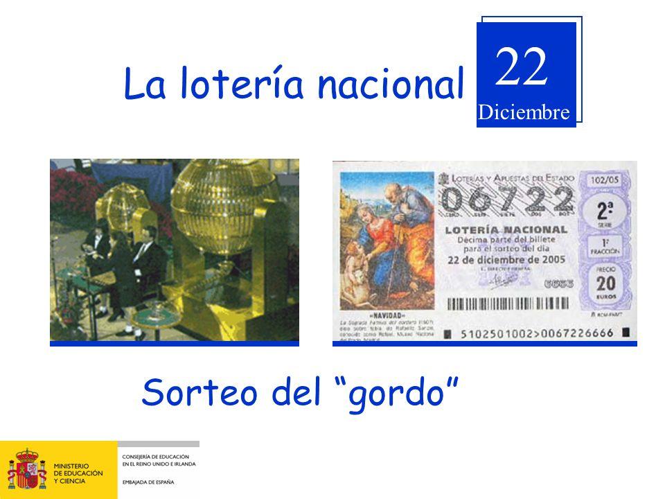 22 La lotería nacional Diciembre Sorteo del gordo