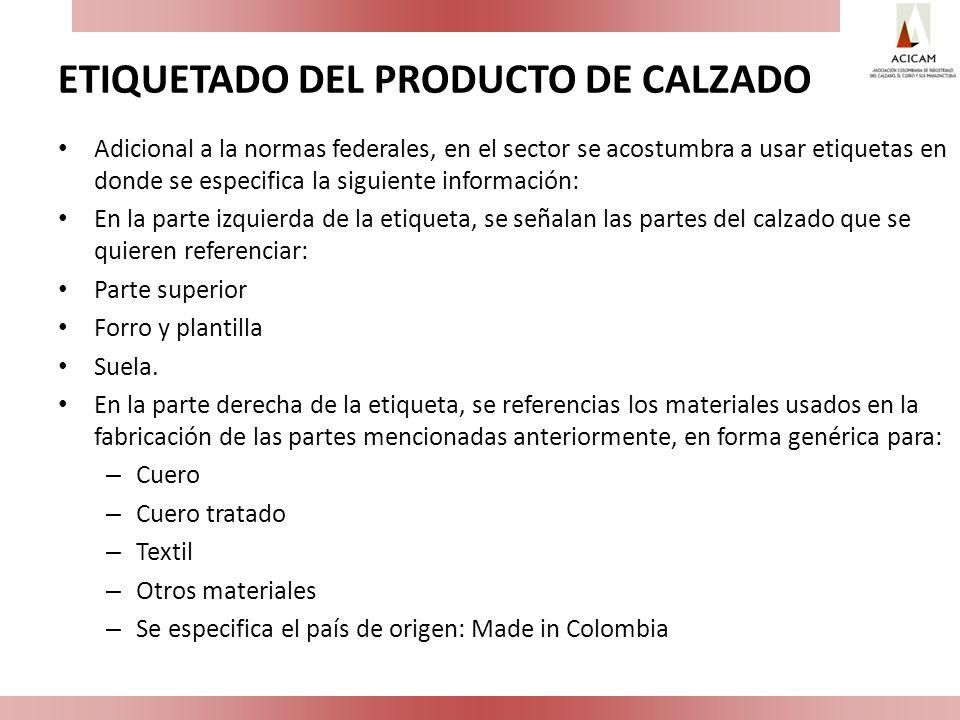 ETIQUETADO DEL PRODUCTO DE CALZADO