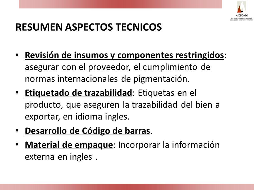 RESUMEN ASPECTOS TECNICOS