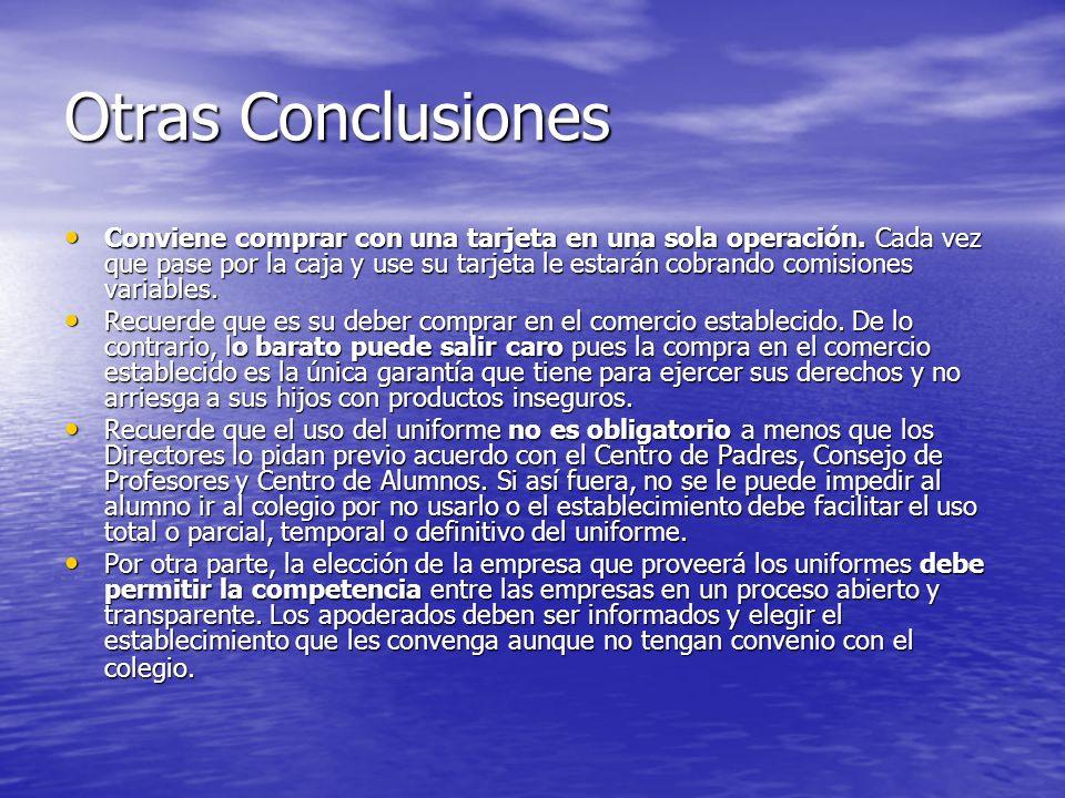 Otras Conclusiones