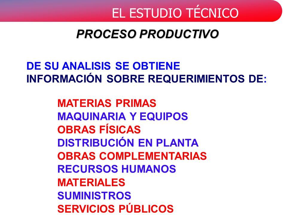 PROCESO PRODUCTIVO DE SU ANALISIS SE OBTIENE