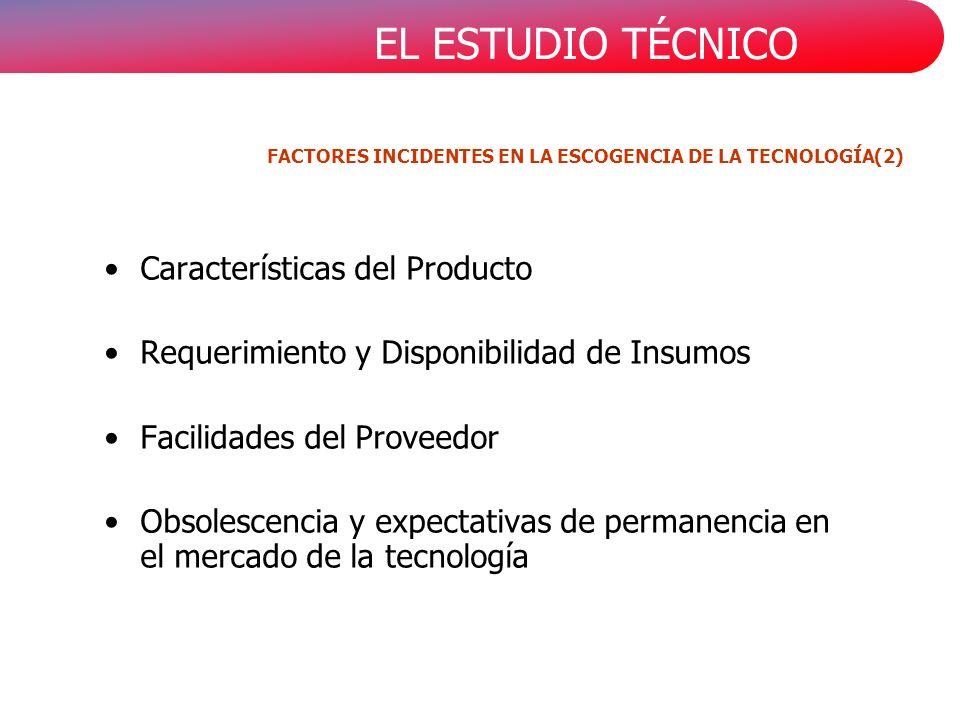 FACTORES INCIDENTES EN LA ESCOGENCIA DE LA TECNOLOGÍA(2)