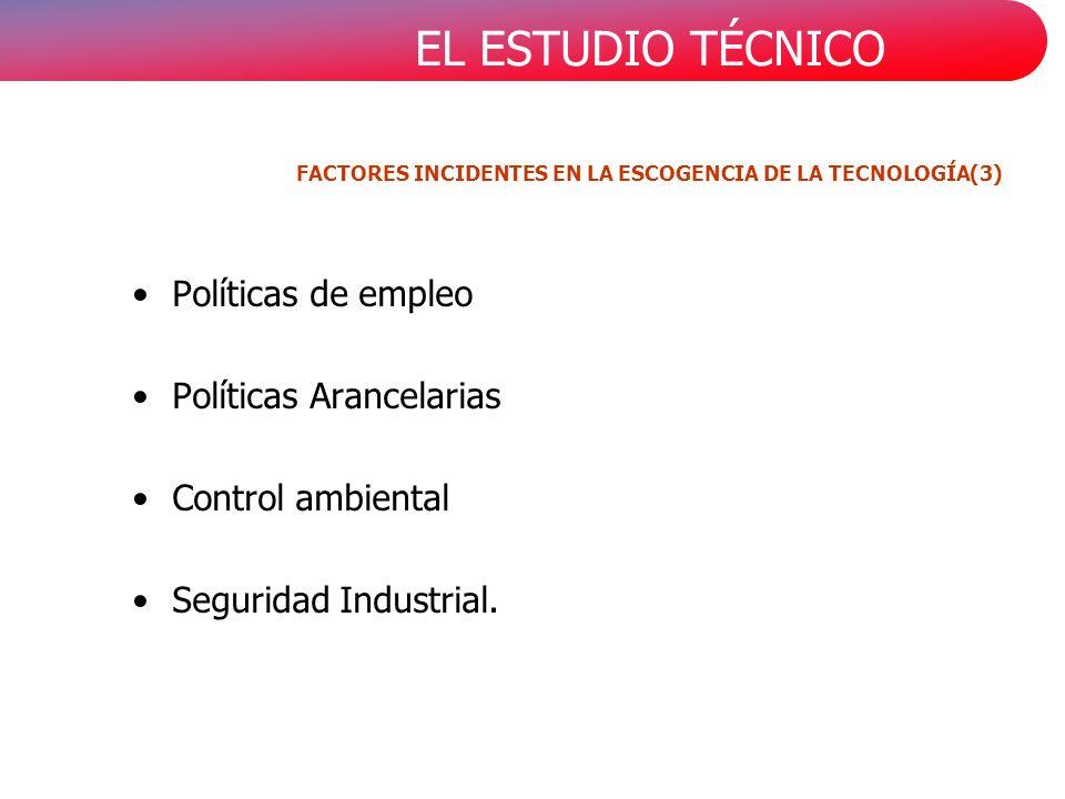 FACTORES INCIDENTES EN LA ESCOGENCIA DE LA TECNOLOGÍA(3)