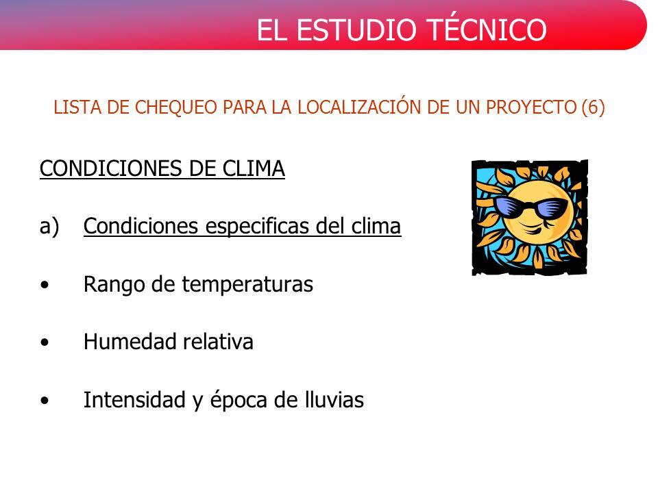 LISTA DE CHEQUEO PARA LA LOCALIZACIÓN DE UN PROYECTO (6)