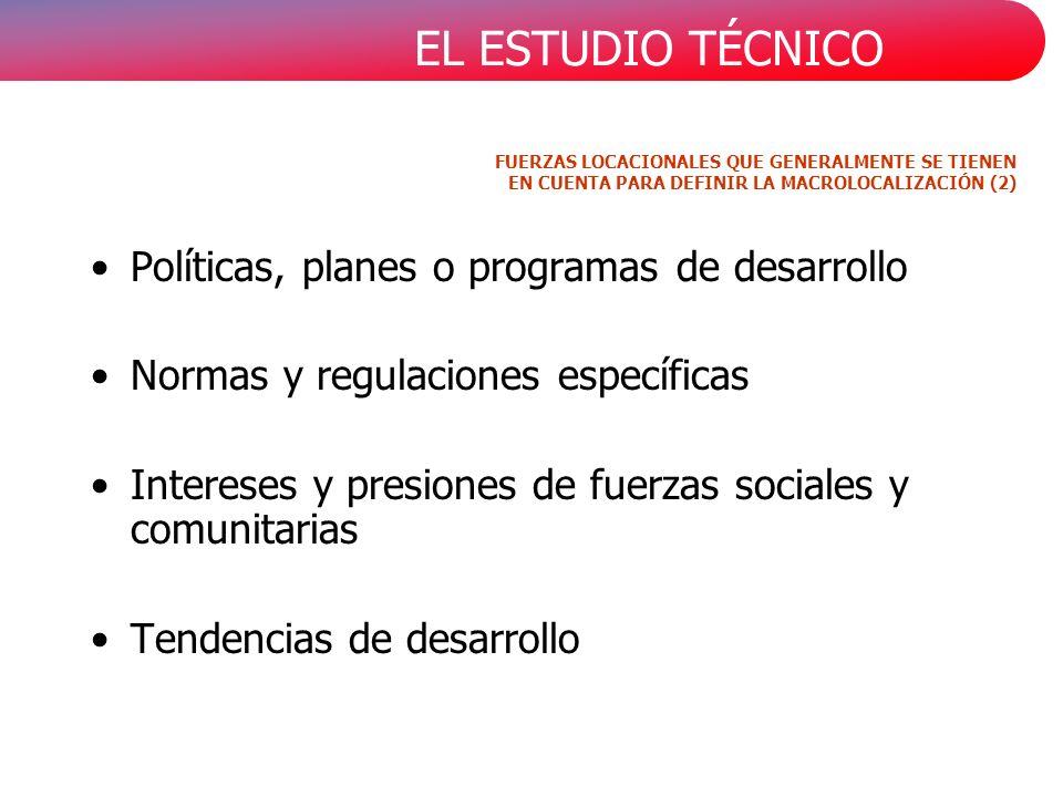 Políticas, planes o programas de desarrollo