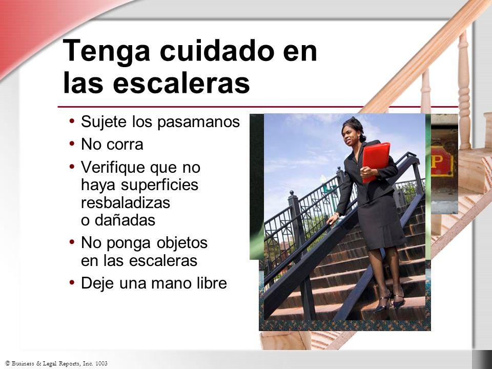 Tenga cuidado en las escaleras