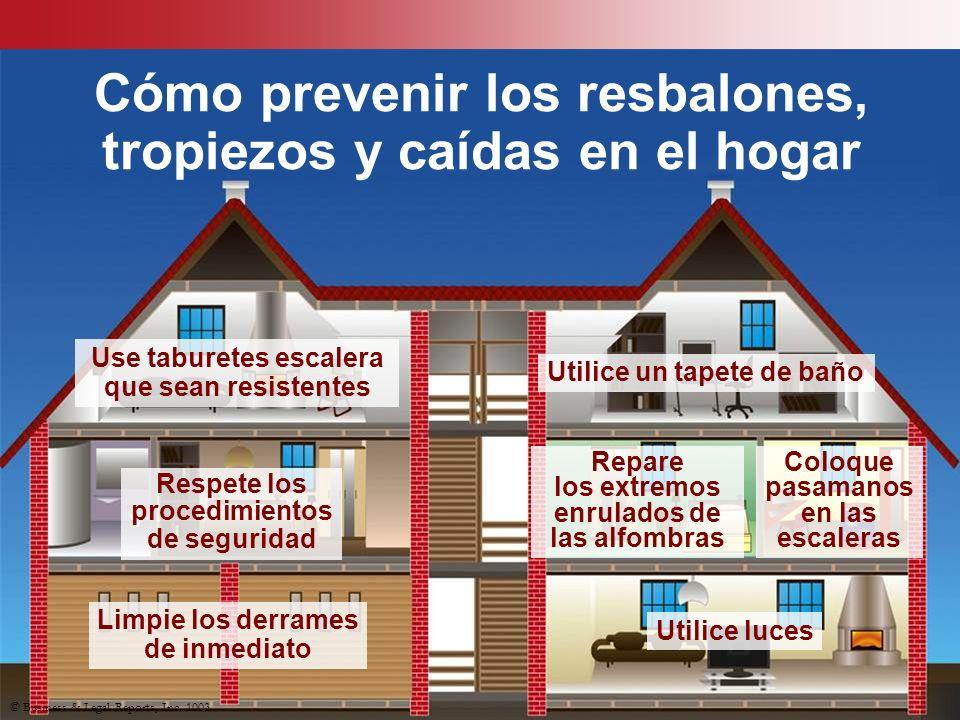Cómo prevenir los resbalones, tropiezos y caídas en el hogar