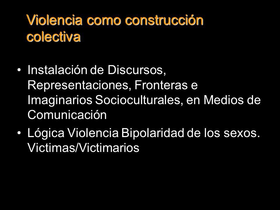Violencia como construcción colectiva
