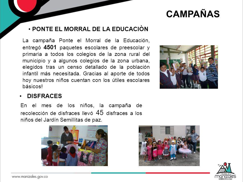 CAMPAÑAS PONTE EL MORRAL DE LA EDUCACIÒN DISFRACES