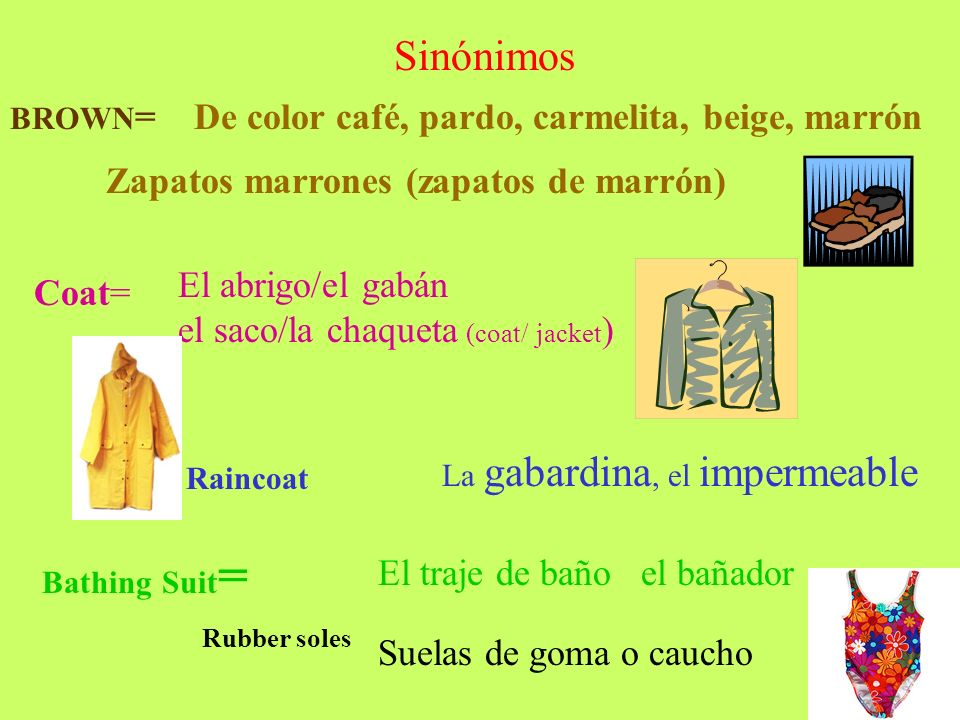 Sinónimos De color café, pardo, carmelita, beige, marrón