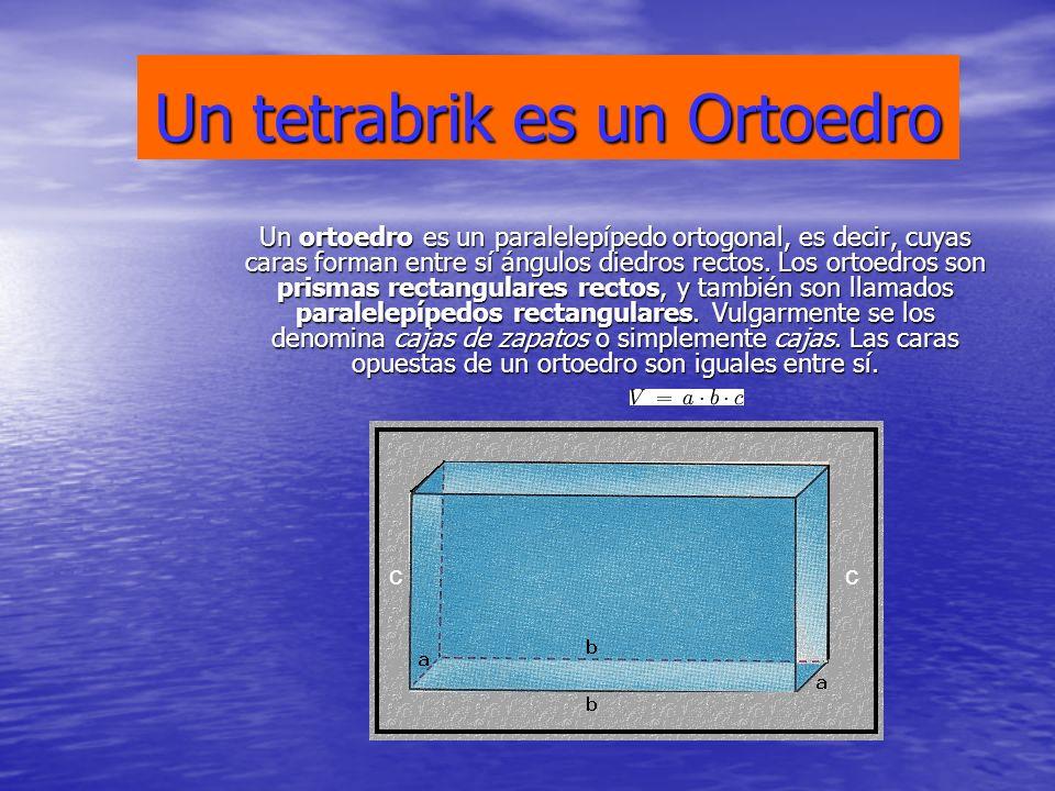 Un tetrabrik es un Ortoedro