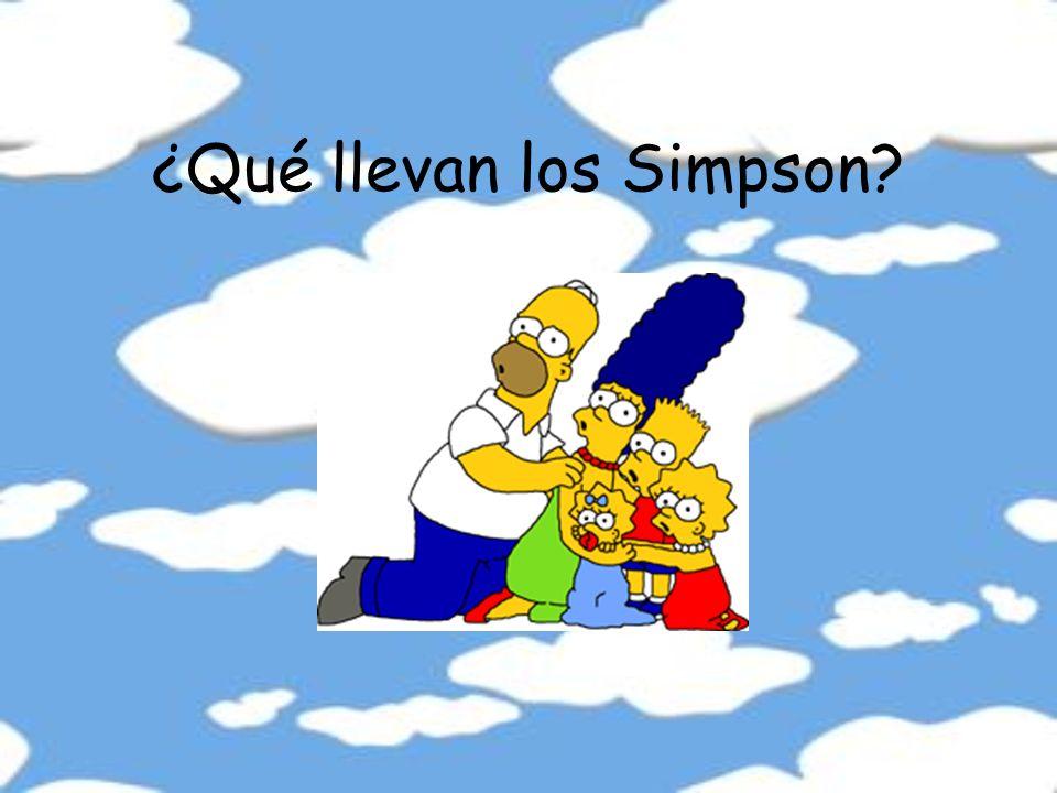 ¿Qué llevan los Simpson
