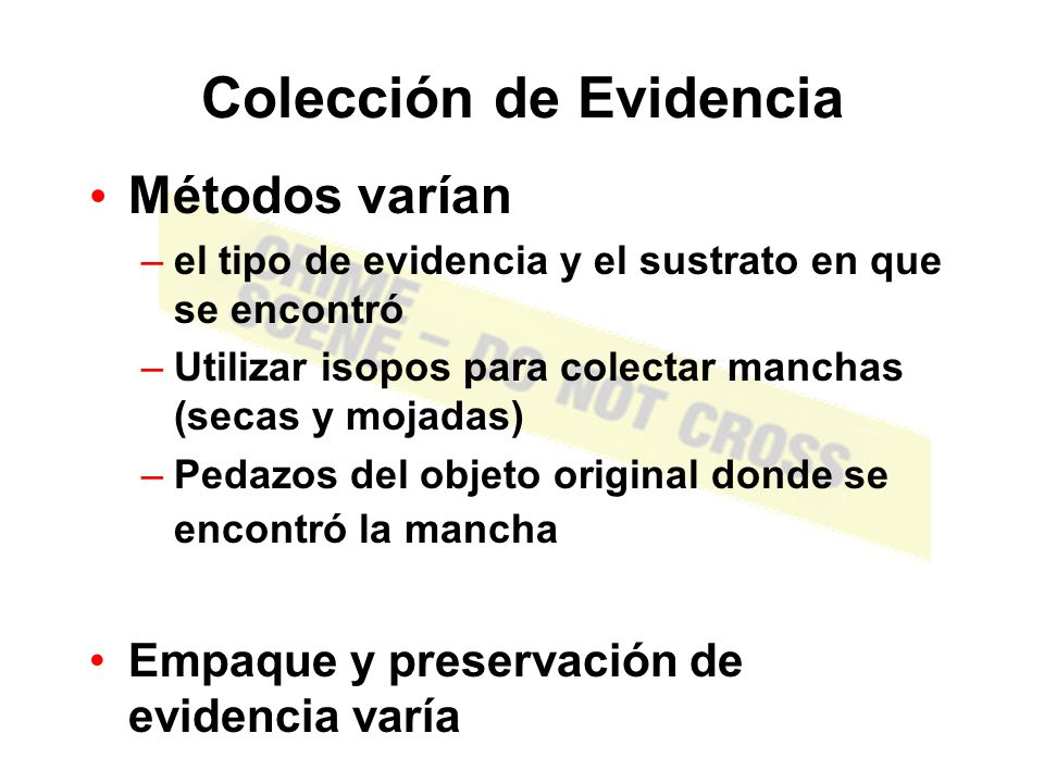 Colección de Evidencia