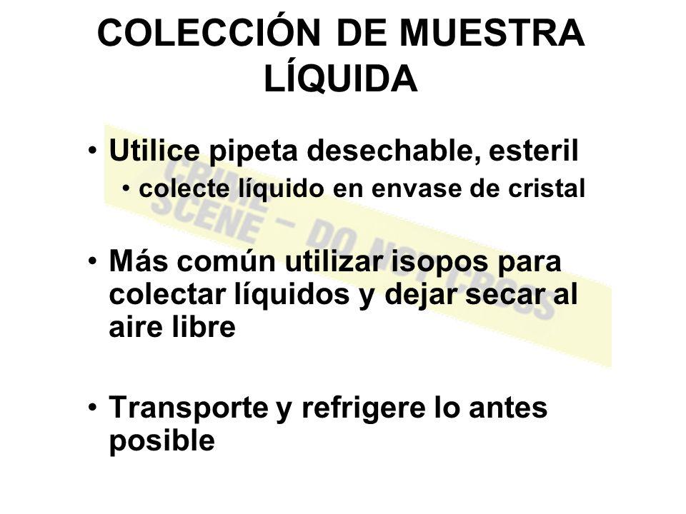 COLECCIÓN DE MUESTRA LÍQUIDA