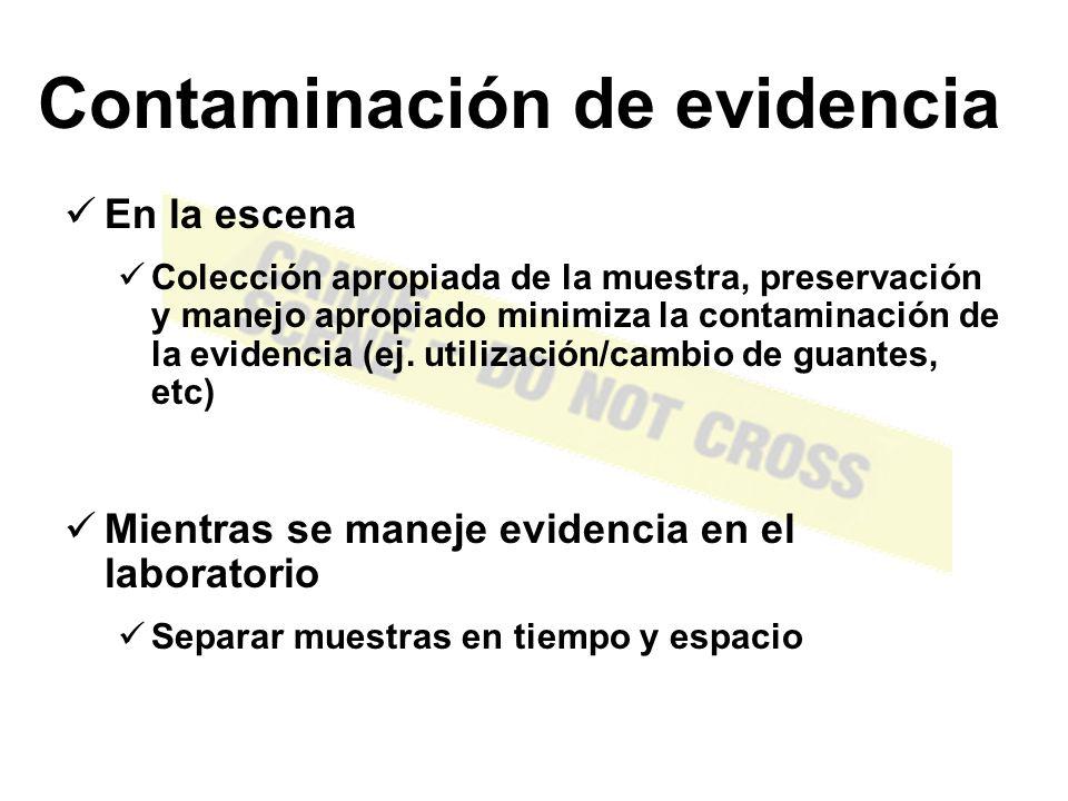 Contaminación de evidencia