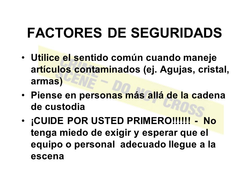 FACTORES DE SEGURIDADS