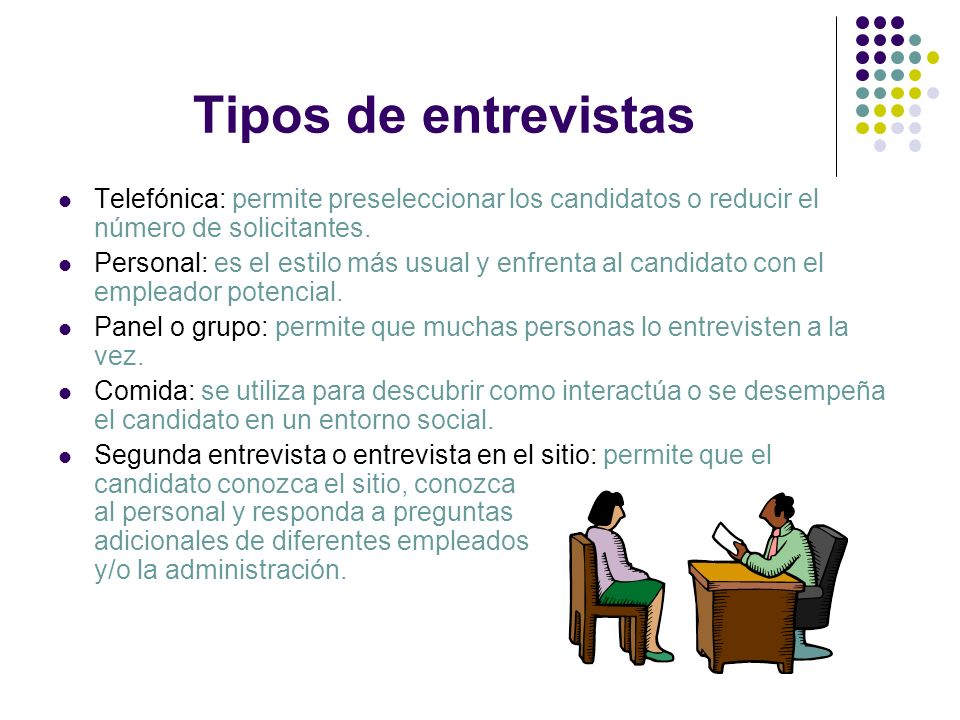 Tipos de entrevistas Telefónica: permite preseleccionar los candidatos o reducir el número de solicitantes.