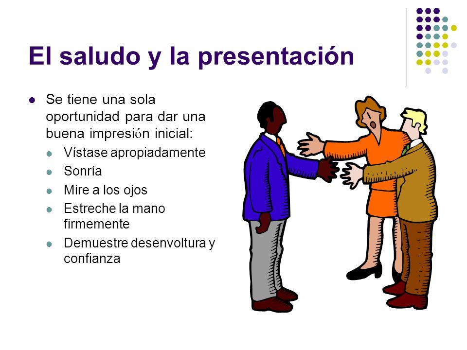 El saludo y la presentación