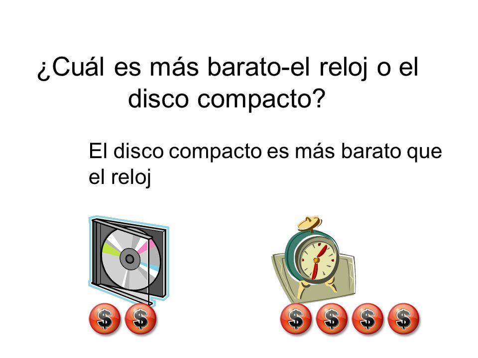 ¿Cuál es más barato-el reloj o el disco compacto